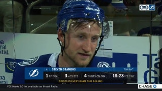 Lightning captain Steven Stamkos on his 4-point night