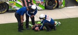 Kyle Busch OK after needing medical attention post-race I 2017 CHARLOTTE
