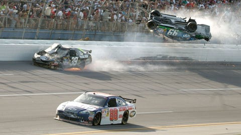 during the NASCAR Sprint Cup Series Aaron's 499 at Talladega Superspeedway on April 26, 2009 in Talladega, Alabama.