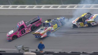 Nemechek and Crafton involved in heavy wreck at Talladega