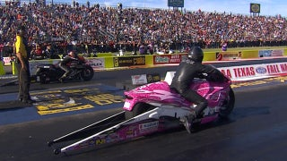 Eddie Krawiec Wins Pro Stock Motorcycle Final at Dallas | 2017 NHRA DRAG RACING