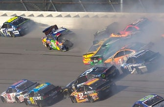 17 cars and multiple playoff drivers taken out in massive crash  | 2017 TALLADEGA