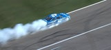 Kyle Larson's championship hopes go up in smoke after engine failure | 2017 KANSAS