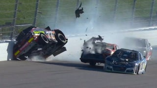 Breaking down the violent crash that took out Erik Jones and Daniel Suárez at Kansas