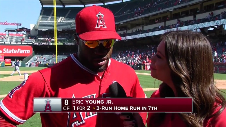 Eric Young Jr. homers in final game of season