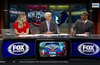 Images of Pels adamant on staying with the bigs | Pelicans Live
