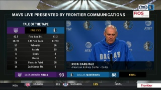 Rick Carlisle with an update on Dennis' injury in loss