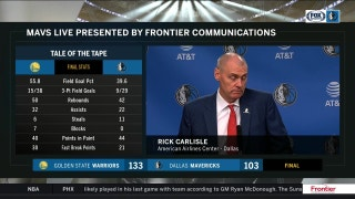 Rick Carlisle on good 2nd quarter despite loss to Golden State