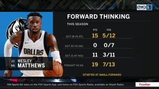Wes Matthews was locked in on D in loss to Warriors | Mavs Live