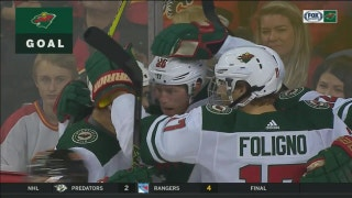 WATCH: Wild score four to beat Flames