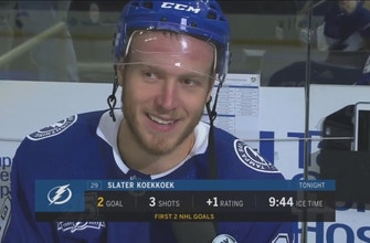 Slater Koekkoek has plenty to smile about after 2-goal game