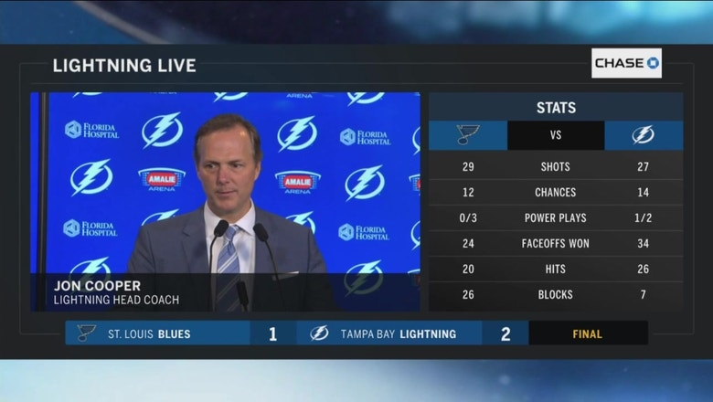 Jon Cooper: I think you saw our team grow tonight