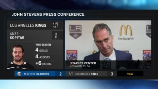 John Stevens talks about the Kings recent power play performance