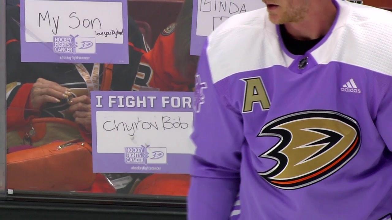 san francisco e3951 e8d15 Ducks Weekly: Hockey Fights Cancer Night