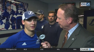 Yanni Gourde credits Lightning's speed after victory