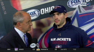 Boone Jenner post-game after his return to the Blue Jackets lineup