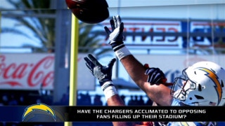 Have the Chargers acclimated to opposing fans filling up their stadium?