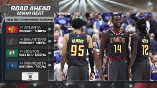 Heat continue long homestand against visiting Hawks