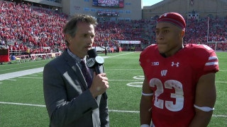 Bruce Feldman speaks with Wisconsin Running Back Jonathan Taylor after the Badgers' win over Maryland