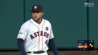 Astros' George Springer makes leaping catch to rob Yankees' Todd Frazier of an RBI