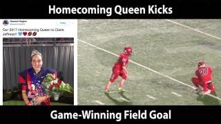 Homecoming Queen Kicks Game-Winning Field Goal | The Scoop