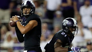 Kenny Hill launches a 67-yard strike to John Diarse for a touchdown, TCU Horned Frogs up 24-0