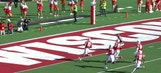 Wisconsin strikes first with a 54-yd pick-6 from T.J. Edwards