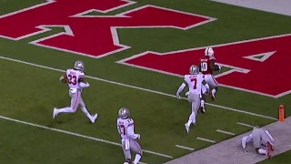 Nebraska gets on the board thanks to a 77-yd touchdown pass to JD Spielman