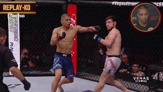 John Moraga walks us through his brutal KO at UFC 216 | REPLAY KO