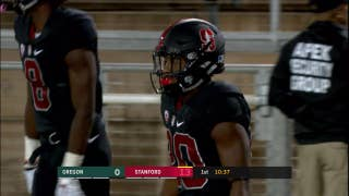 Watch Stanford's Bryce Love rush for 2 first quarter touchdowns against Oregon
