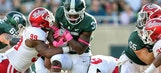 No. 18 Michigan State comes from behind to beat Indiana 17-9