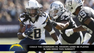 Where are the Chargers and Raiders going to play Sunday?