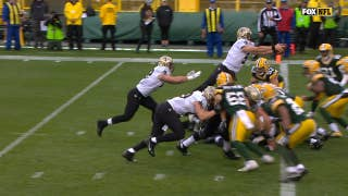 Drew Brees and the Saints rally in the second half to beat the packers at Lambeau Field