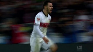 Anastasios Donis scores for Stuttgart lead | 2017-18 Bundesliga Highlights