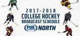 FOX Sports North announces 2017-18 college hockey broadcast schedule