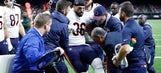 Bears tight end Zach Miller dislocates knee on same play his TD is overturned (WARNING: not for the squeamish)