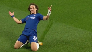 David Luiz scores a beautiful curler to put Chelsea ahead 1-0
