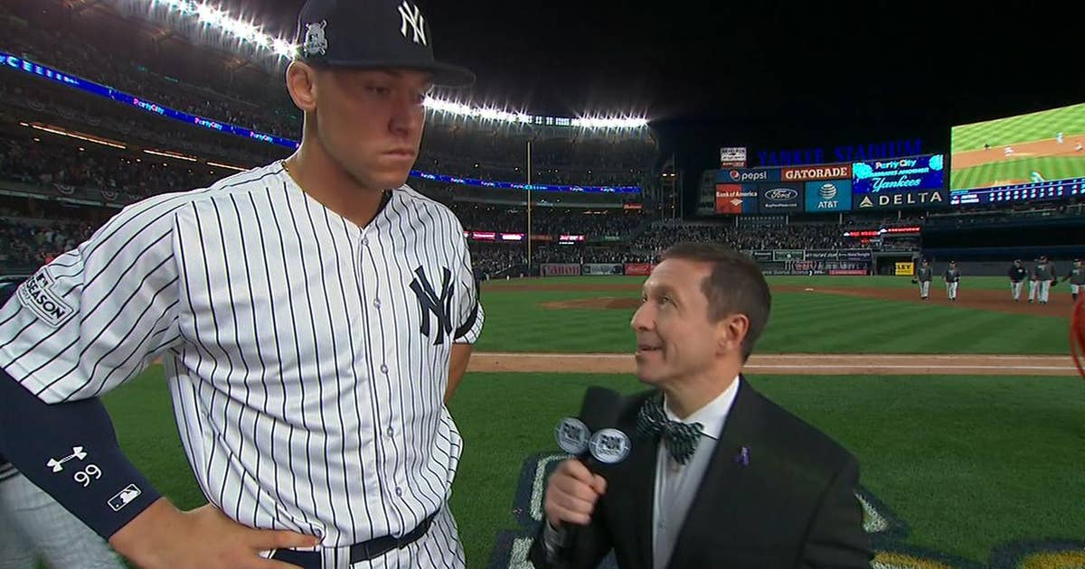 'We're never out of the game with the kind of offense that we have': Aaron Judge on the Yankees' huge Game 4 comeback (VIDEO)