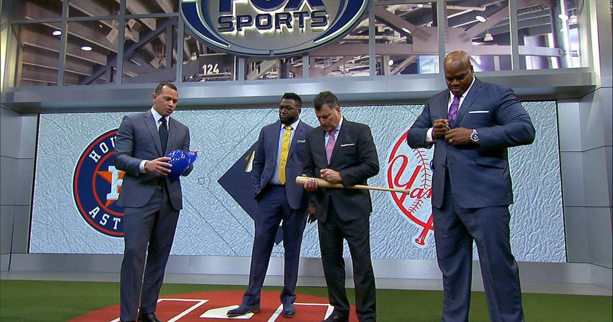 Alex Rodriguez, David Ortiz, Frank Thomas and Keith Hernandez help out a young A's fan (VIDEO)