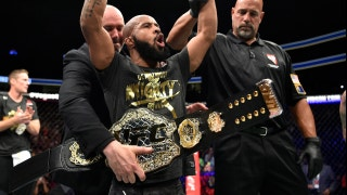 Demetrious Johnson's reaction after breaking Anderson Silva's record