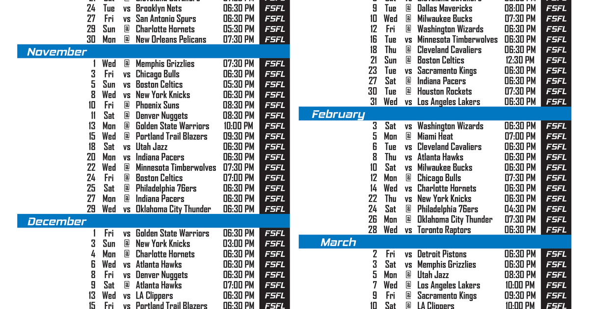 orlando magic tv schedule fox sports