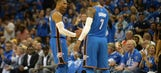 """OKC's """"Big 3"""" debuts in victory over Knicks"""