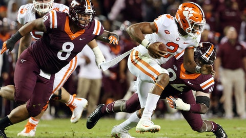 Virginia Tech DB has suspension lifted for Clemson game