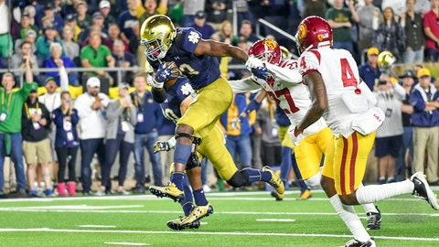 FALL GUYS: Josh Adams, Notre Dame RB