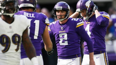 Kai Forbath, Vikings kicker (↓ DOWN)