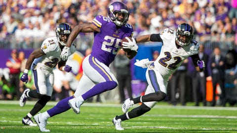 Latavius Murray, Vikings running back (↑ UP)