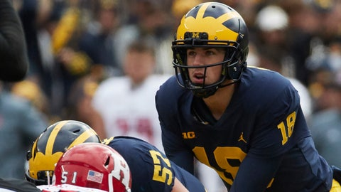 Jim Harbaugh won't commit to starting Brandon Peters