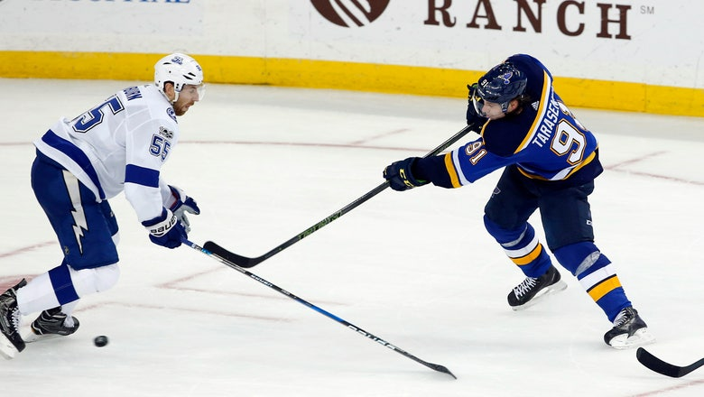 Blues fall 2-1 to Lightning, finish with 2-2 record on road trip