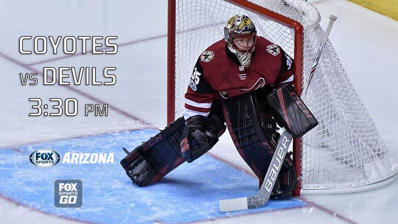 Preview: Coyotes at Devils, 3:30 p.m., FOX Sports Arizona Plus