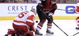 Coyotes can't close out Red Wings, remain winless